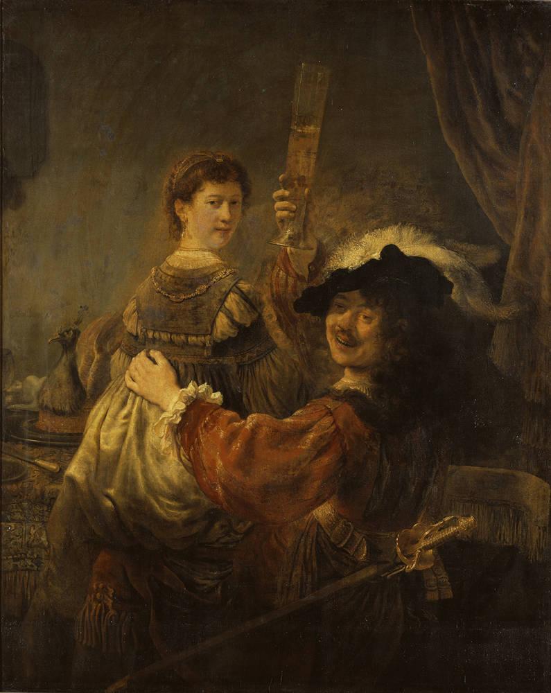 放蕩息子の寓話におけるレンブラントとサスキア